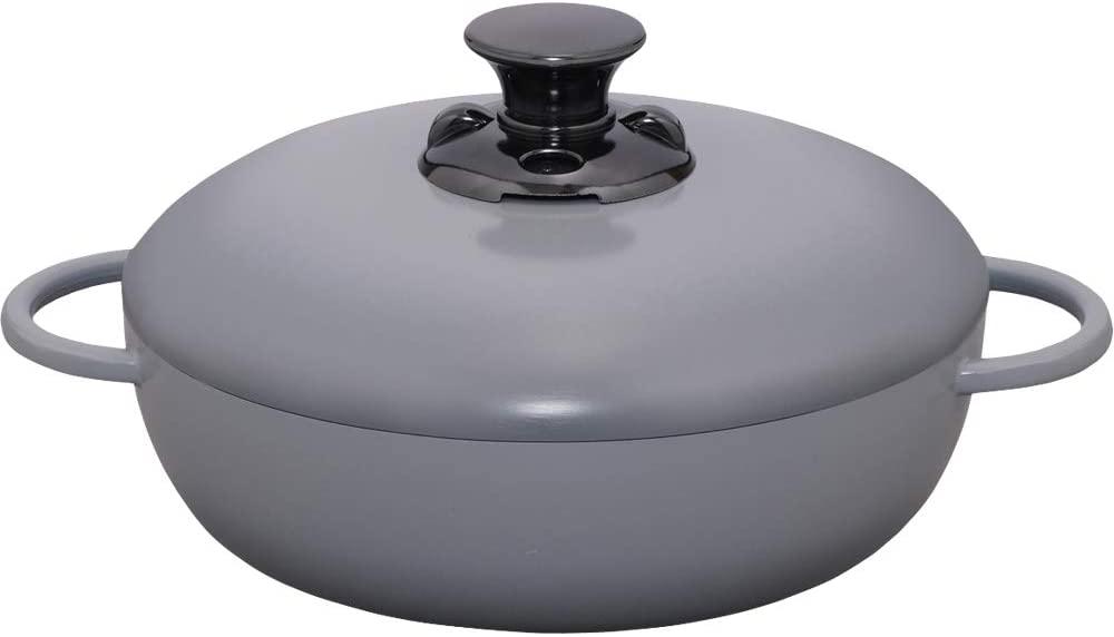 IRIS OHYAMA(アイリスオーヤマ)【IH対応】デザイン無加水鍋 GMKS-24S グレーの商品画像