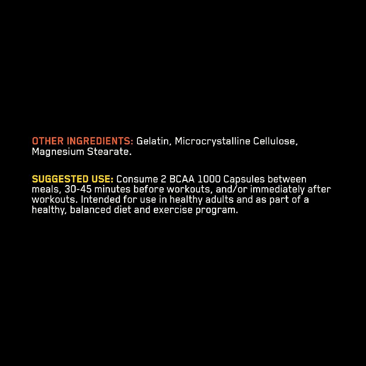 Optimum Nutrition(オプティマム ニュートリション) BCAA 1000 CAPSの商品画像4