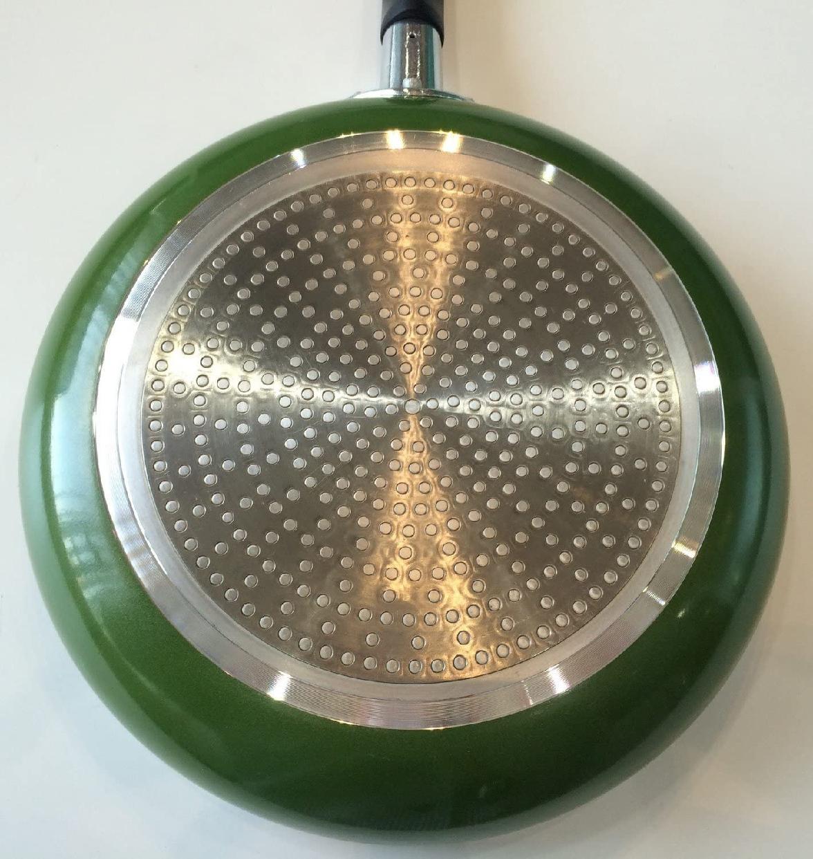 パール金属(PEARL) フォア フライパン 24cm IH対応 H-1861 グリーンの商品画像5