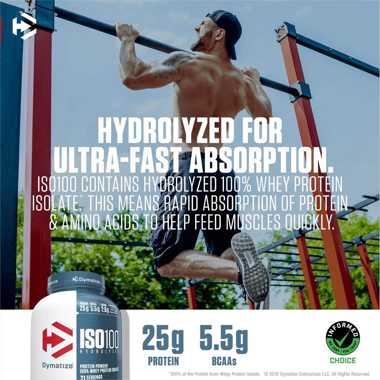 Dymatize(ダイマタイズ) ISO100 ハイドロライズド 100%ホエイアイソレートの商品画像8