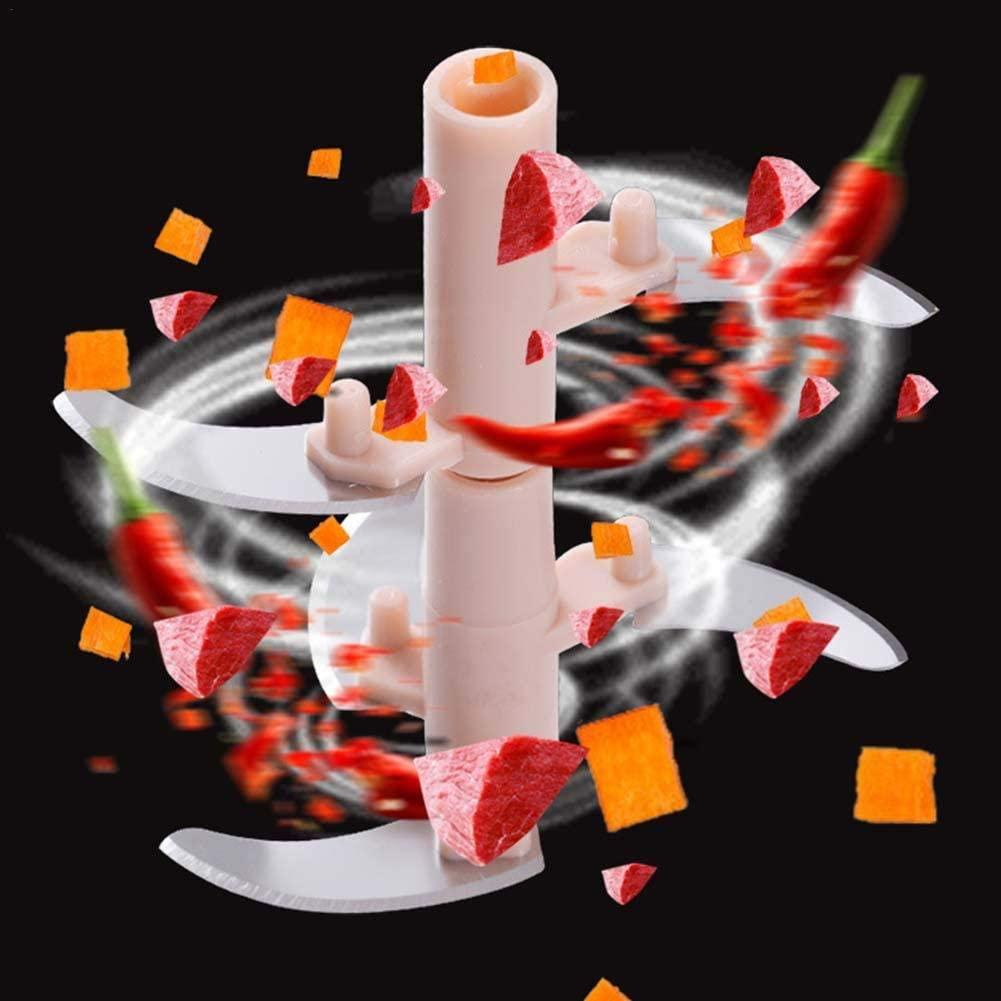 サチュリーハンドチョッパー手動フードプロセッサー ピンクの商品画像4