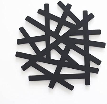 MIRAGE-STYLE(ミラージュスタイル) 鍋敷き コースター シリコン 大き目サイズ オリジナルデザイン Tree ブラックの商品画像