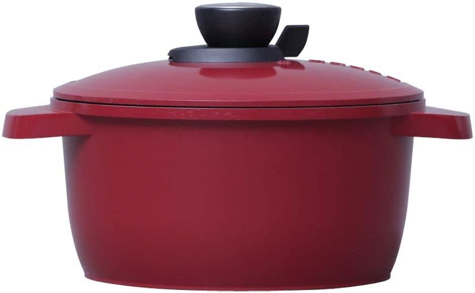 MAKER(マーカー) 無加水鍋 20cm IH対応 レッド MKSN-P20の商品画像4