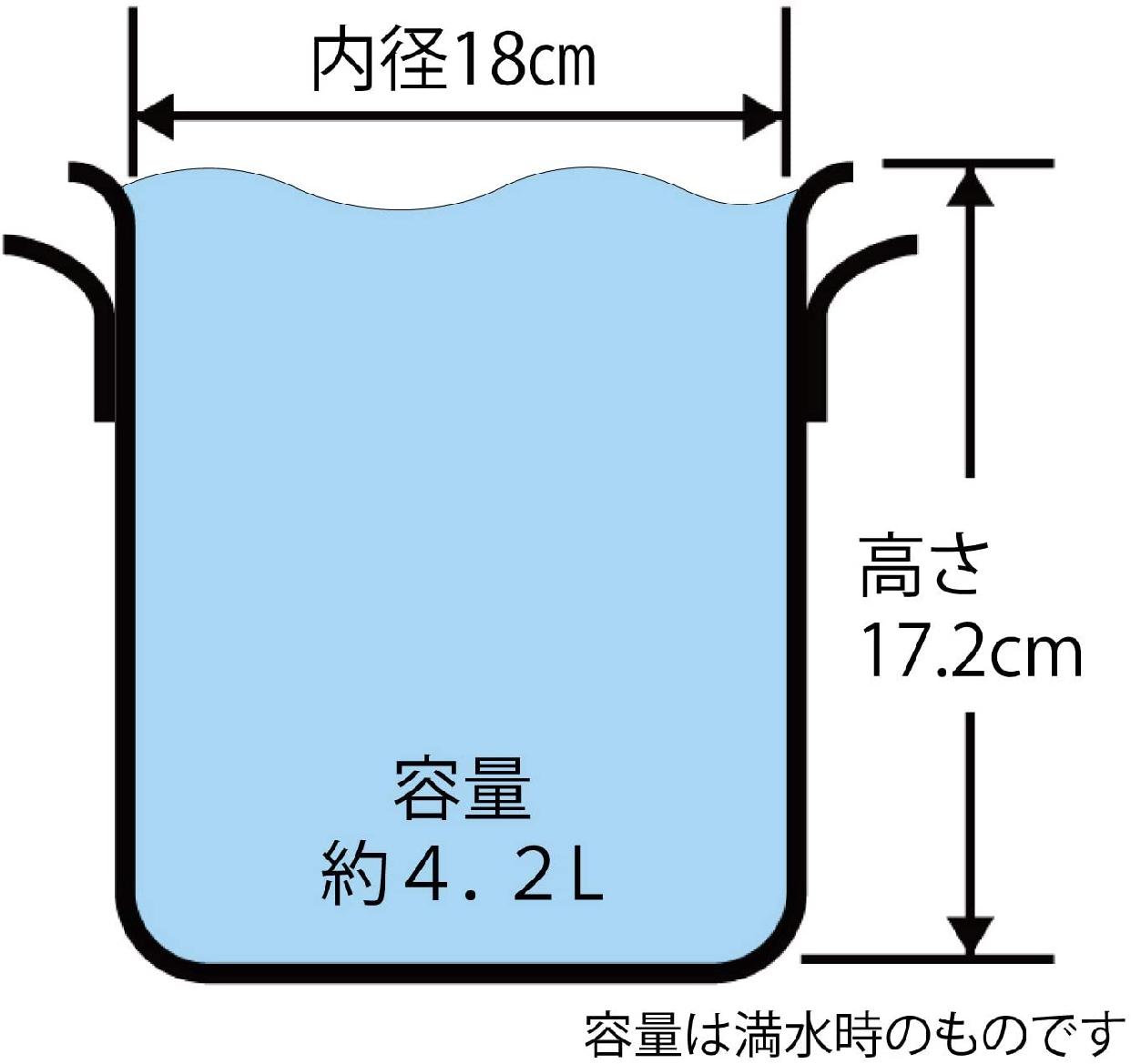 PRO SELECT(プロセレクト) 【GAS】寸胴鍋 18cm A1520018の商品画像2