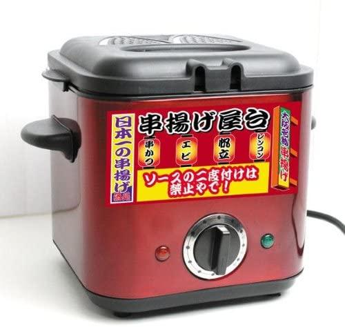 三ッ屋電機(ミツヤデンキ) 家庭用フライヤー MAK-900 串揚げ屋台 レッドの商品画像2