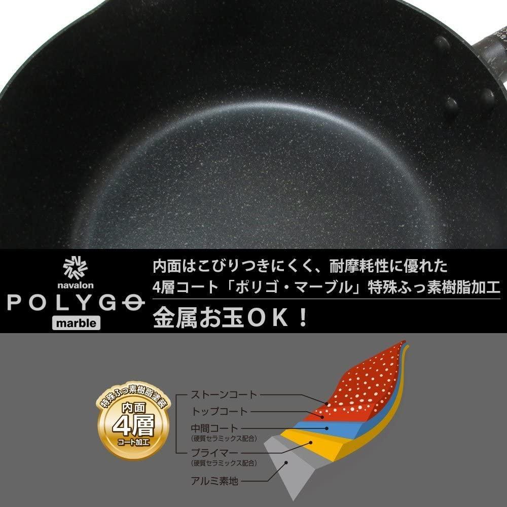 和平フレイズ(FREIZ) マーブルデリシャス 片手鍋  SMR-5572の商品画像6