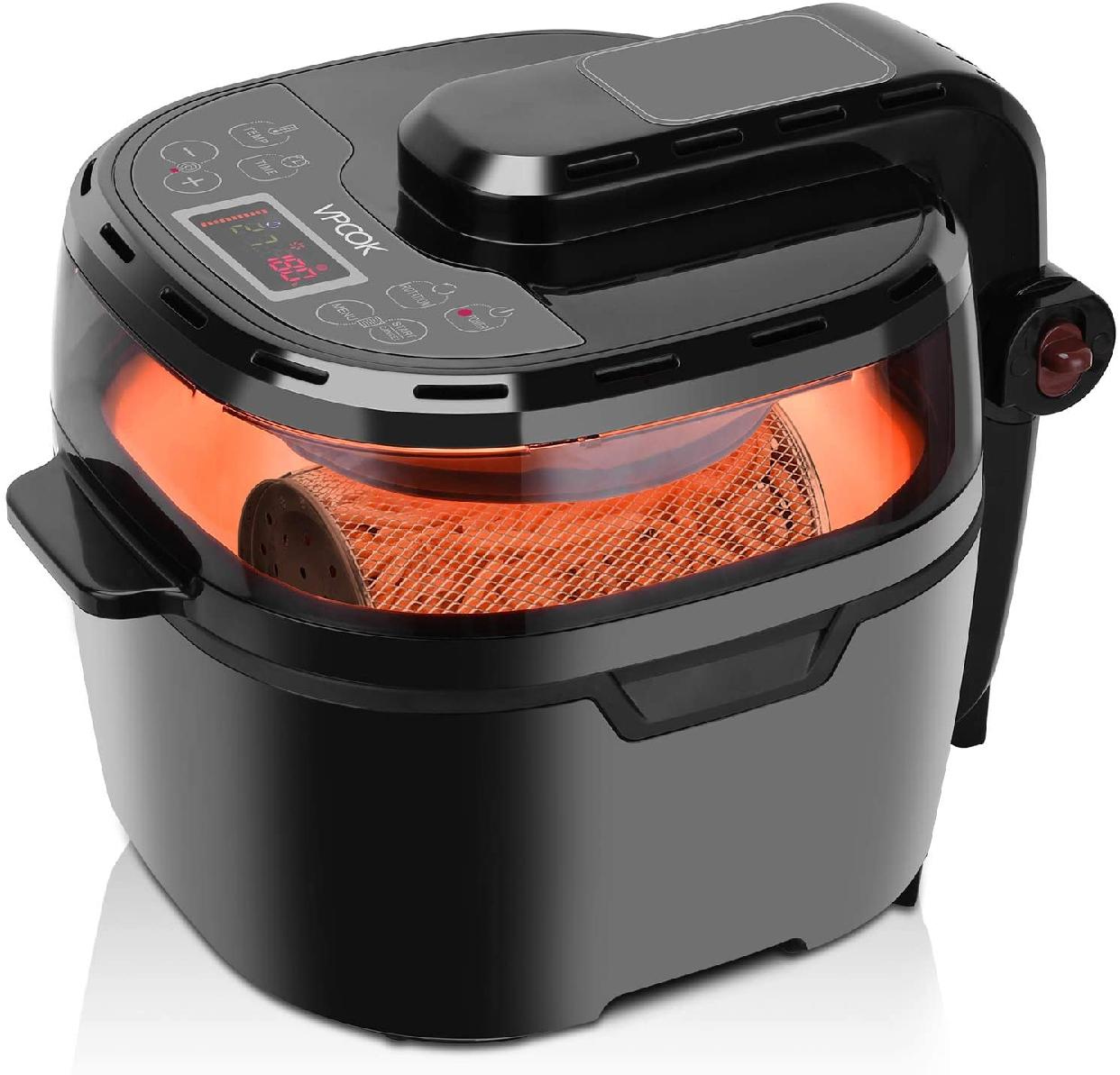 VPCOK(ブイピーコック) 電気フライヤー 10L ブラック 4513の商品画像