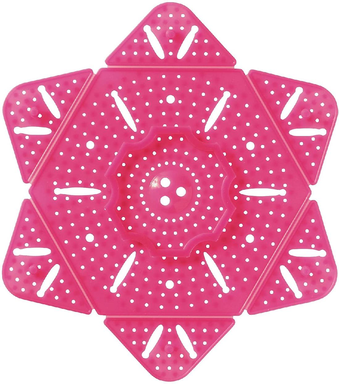 SUN FAMILY(サンファミリー)サンファミリー サイズが変わる あく取り落とし蓋 ピンクの商品画像8