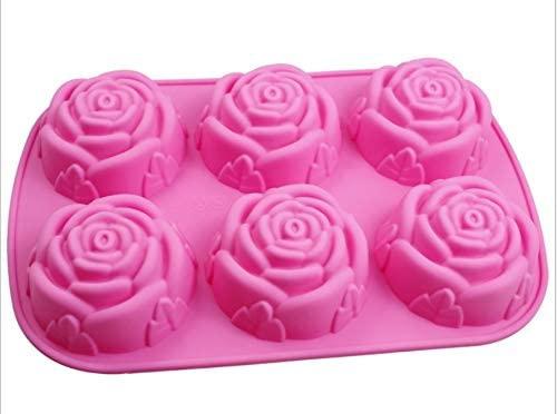 MAPLE HOUSE(メープルハウス) バラ型のシリコンケース 焼き菓子 ピンクの商品画像