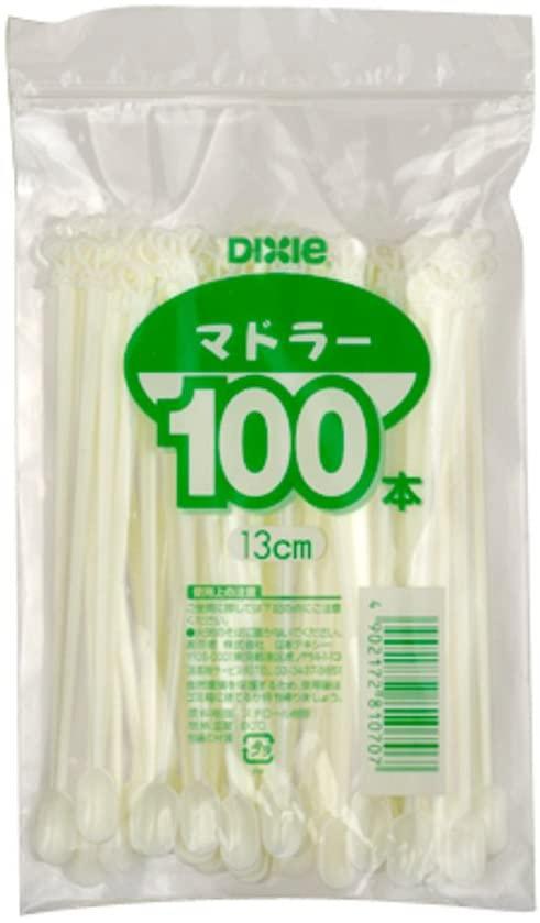 日本デキシー(ニホンデキシー)プラスチックマドラー 13cm ホワイトの商品画像