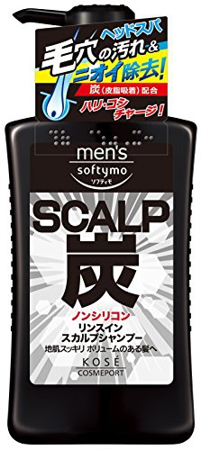 men's softymo(メンズ ソフティモ)リンスイン スカルプシャンプー (炭)の商品画像