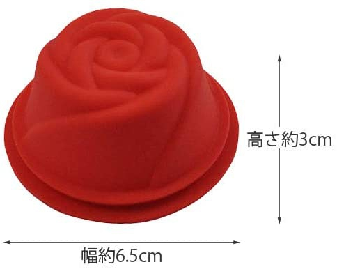 Kai House SELECT(カイハウスセレクト)生地がくっつきにくいシリコーン製のお菓子型(ローズ)レッド DL6242の商品画像5