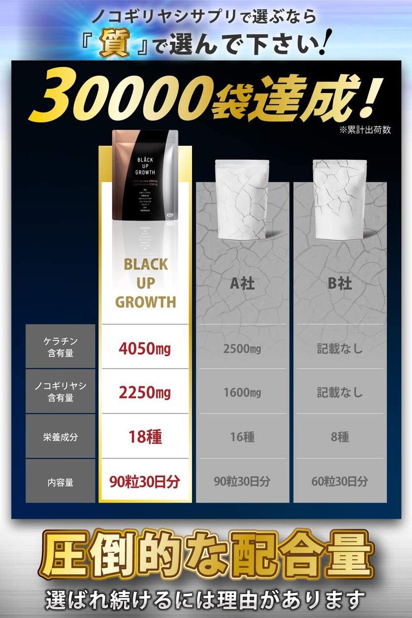 O・B・U(オービーユー) BLACK UP GROWTHの商品画像6