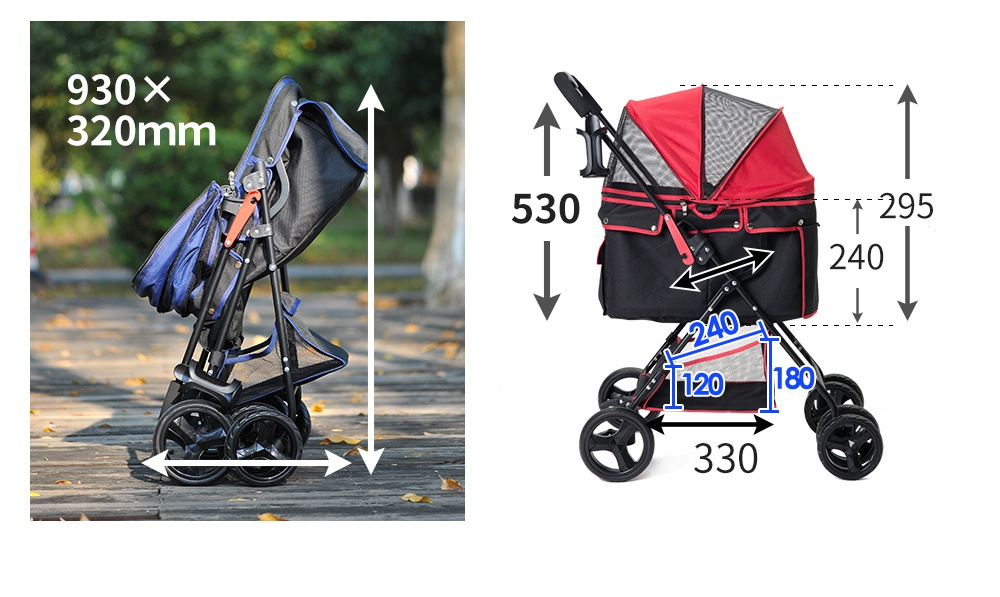 BTM(ビーティーエム) 折りたたみ式4輪ペットカートの商品画像19