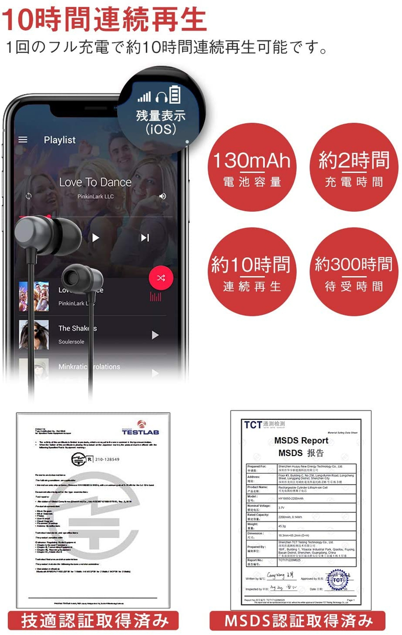 colel(コーレル) Bluetooth イヤホンの商品画像2