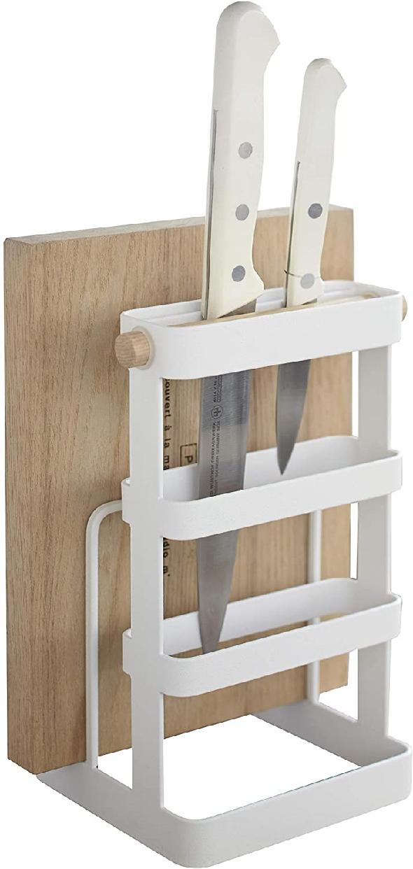山崎実業(Yamazaki) 包丁&まな板スタンド トスカ ホワイト 2421の商品画像10