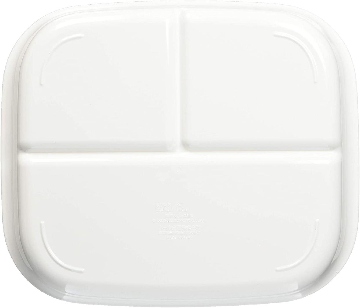 パール金属(パールキンゾク)あつかいやすい仕切付スクエアプレート(ホワイト) K-6388の商品画像3