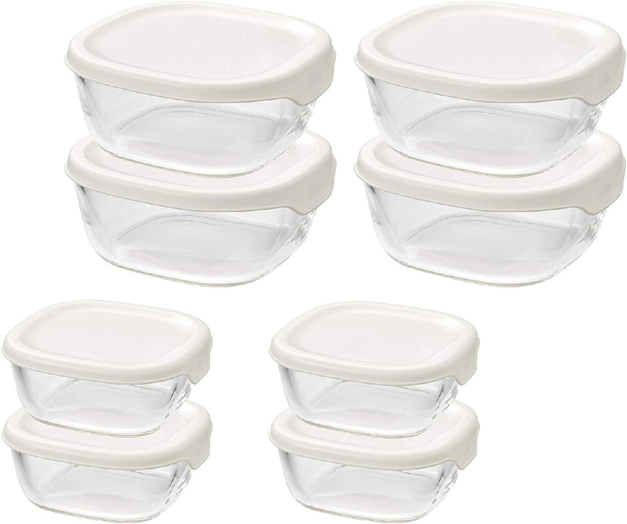 HARIO(ハリオ) 耐熱ガラス製保存容器セット 8個入り KST-5604-OWの商品画像