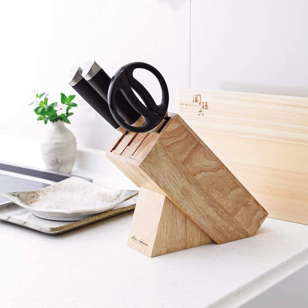 貝印(KAI) KHS 木製ナイフブロック ブラウン AP5321の商品画像5