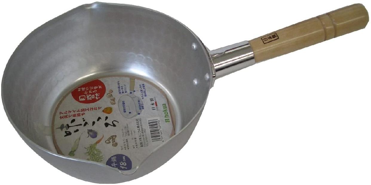 【GAS】味ごころ 雪平鍋 18cm シルバーの商品画像