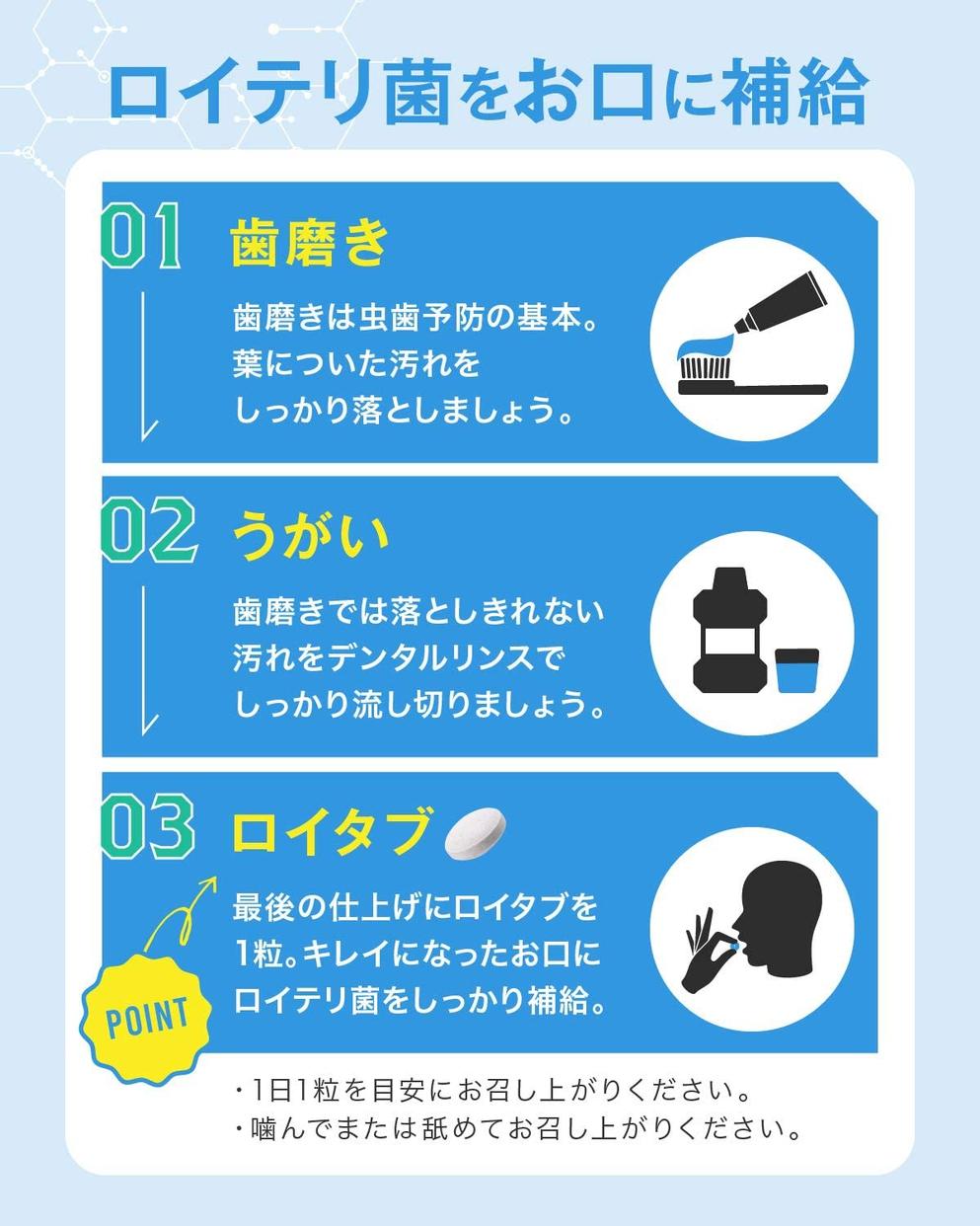 REUTABU(ロイタブ) ロイテリ菌タブレットの商品画像3