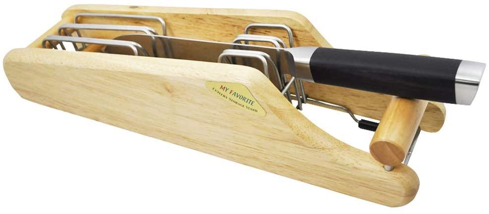 貝印(KAI) 包丁 スタンド MY FAVORITE 木製 ブラウン AP0520の商品画像2