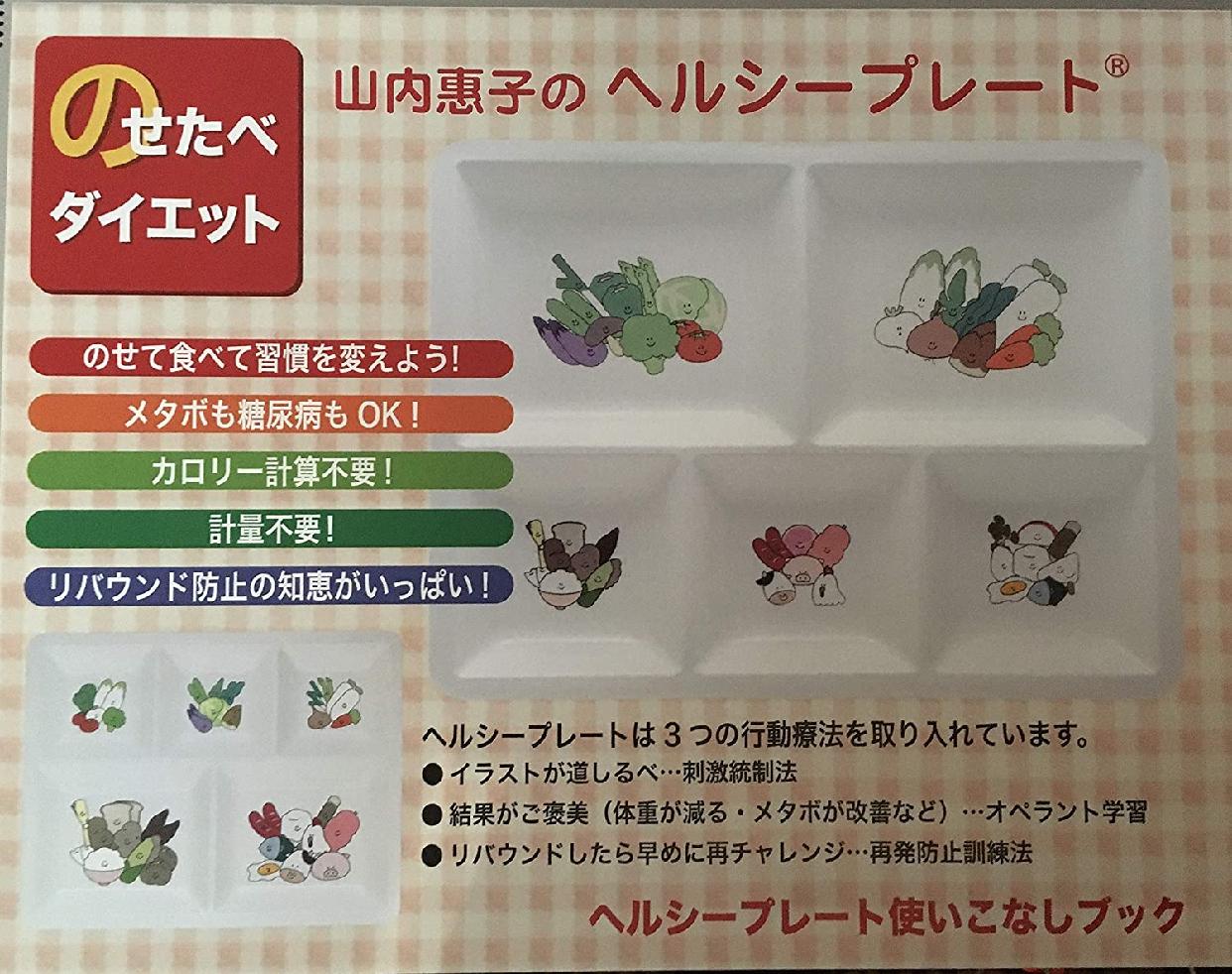 HPYK(エイチピーワイケイ) 山内惠子のヘルシープレートのせたべダイエット箱入りセット(改定本入り)の商品画像7