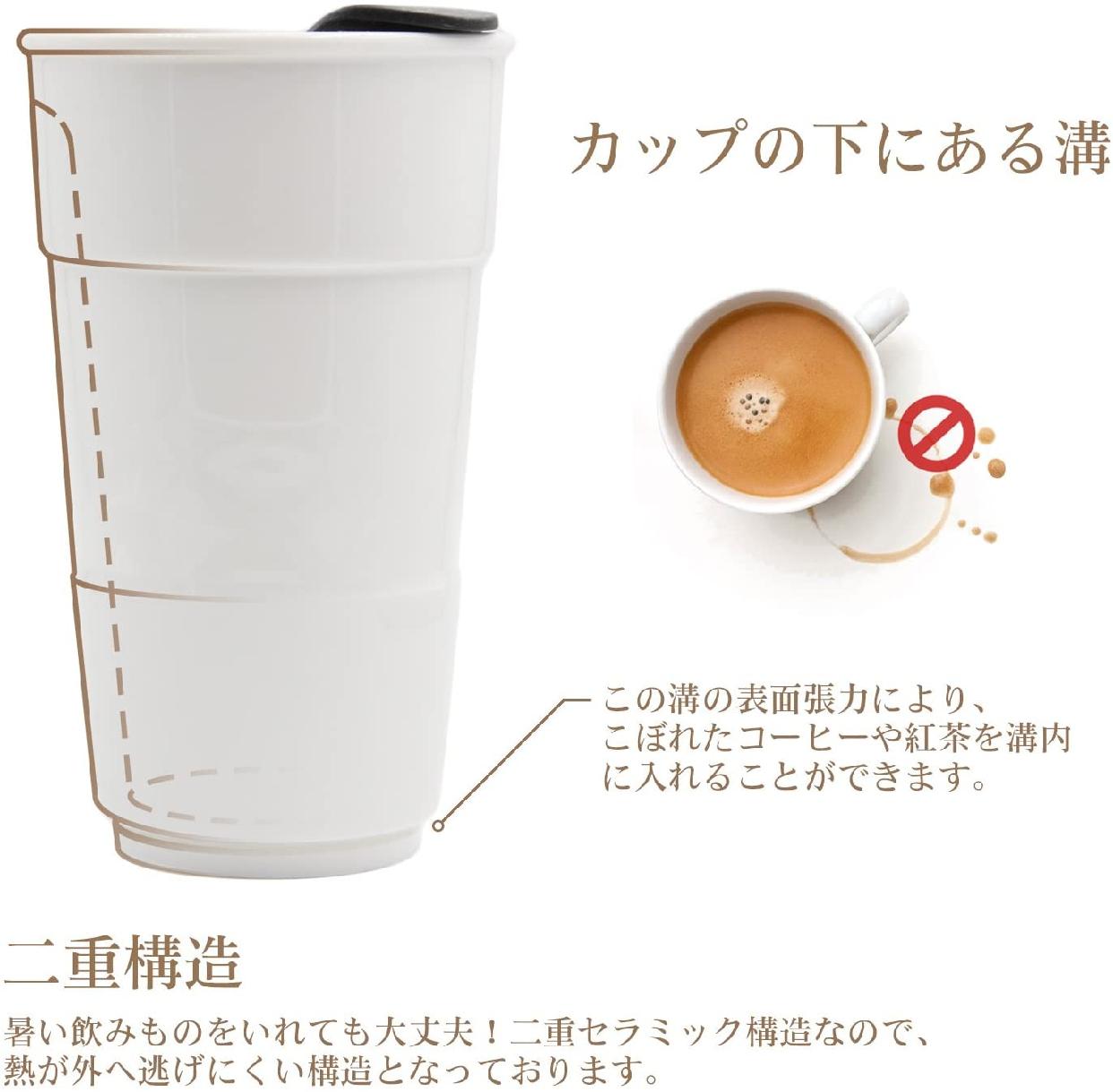 UDMG(ユーディーエムジー) 二重構造断熱コーヒーカップの商品画像2