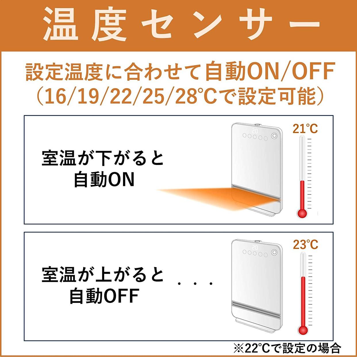 山善(YAMAZEN) 大風量セラミックヒーター(Wエコ機能搭載) DHF-VN12の商品画像3