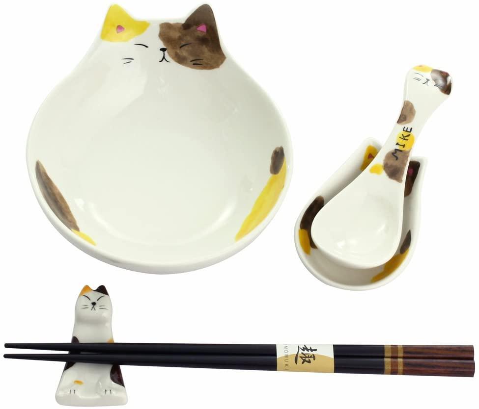 セラミック藍(セラミックアイ) わんぱく猫 とんすいセット MIKEの商品画像