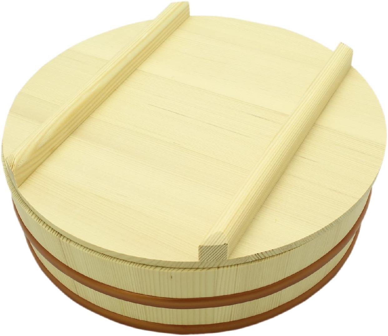 立花容器 寿司桶 27cm 蓋付 SP (容量約3合)の商品画像