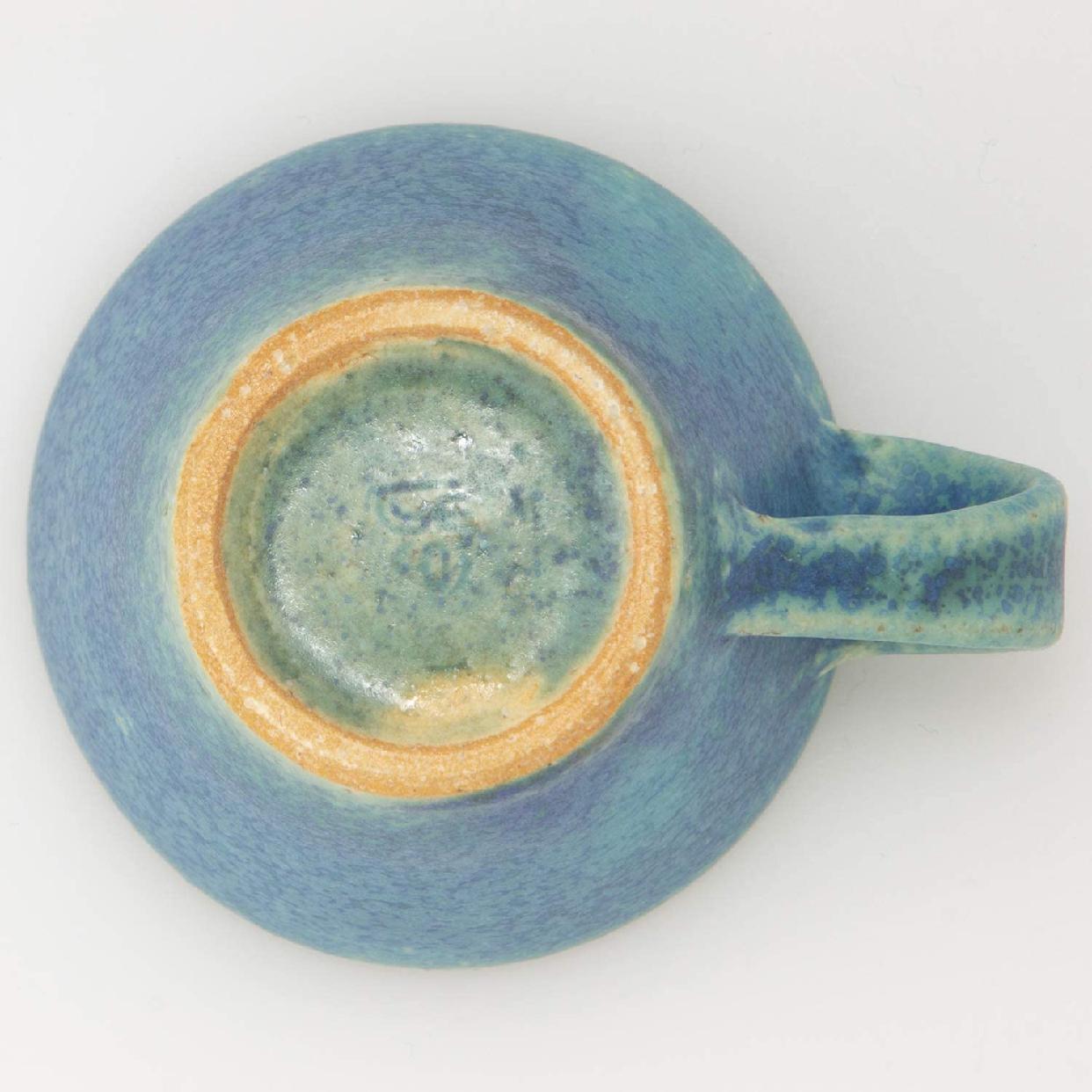 丸伊製陶 信楽焼 へちもん エスプレッソカップ 青彩釉の商品画像6