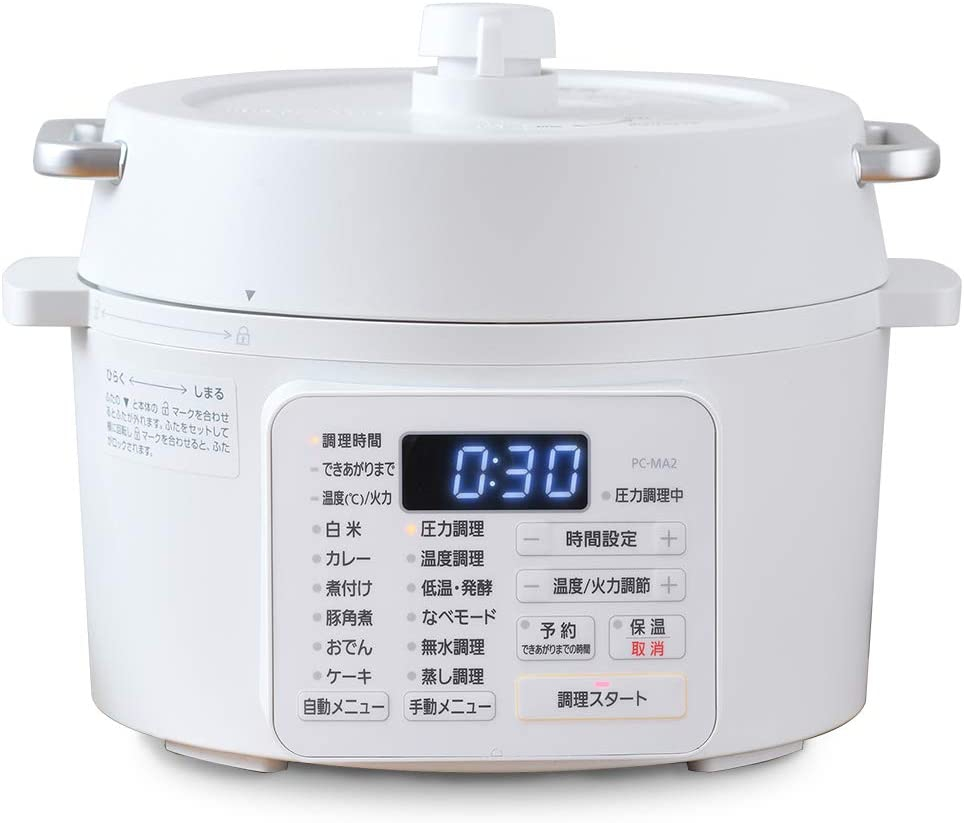 IRIS OHYAMA(アイリスオーヤマ) 電気圧力鍋 2.2L ホワイト PC-MA2-Wの商品画像