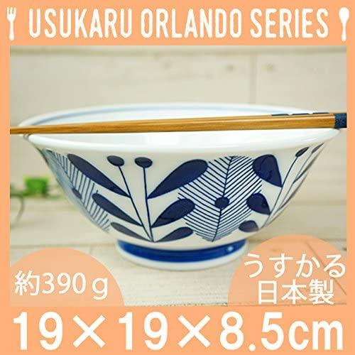 KitchenMartD-まちのうつわ屋さん- オーランド うすかる  麺鉢 19cm 藍色の商品画像3