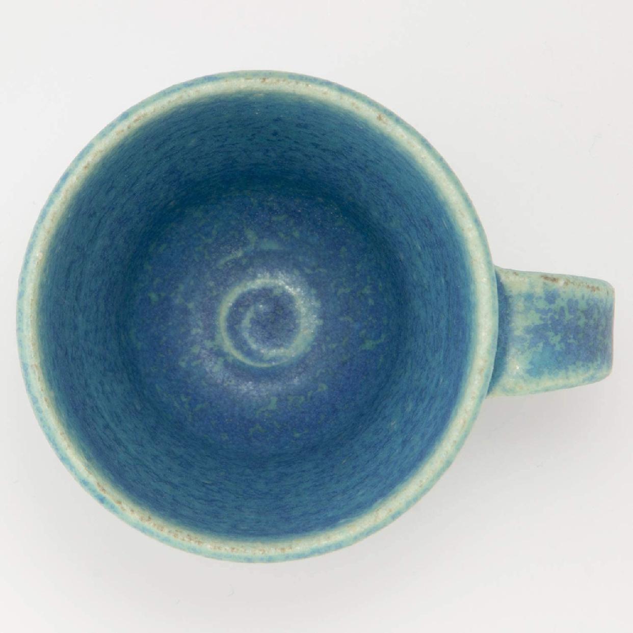 丸伊製陶 信楽焼 へちもん エスプレッソカップ 青彩釉の商品画像5