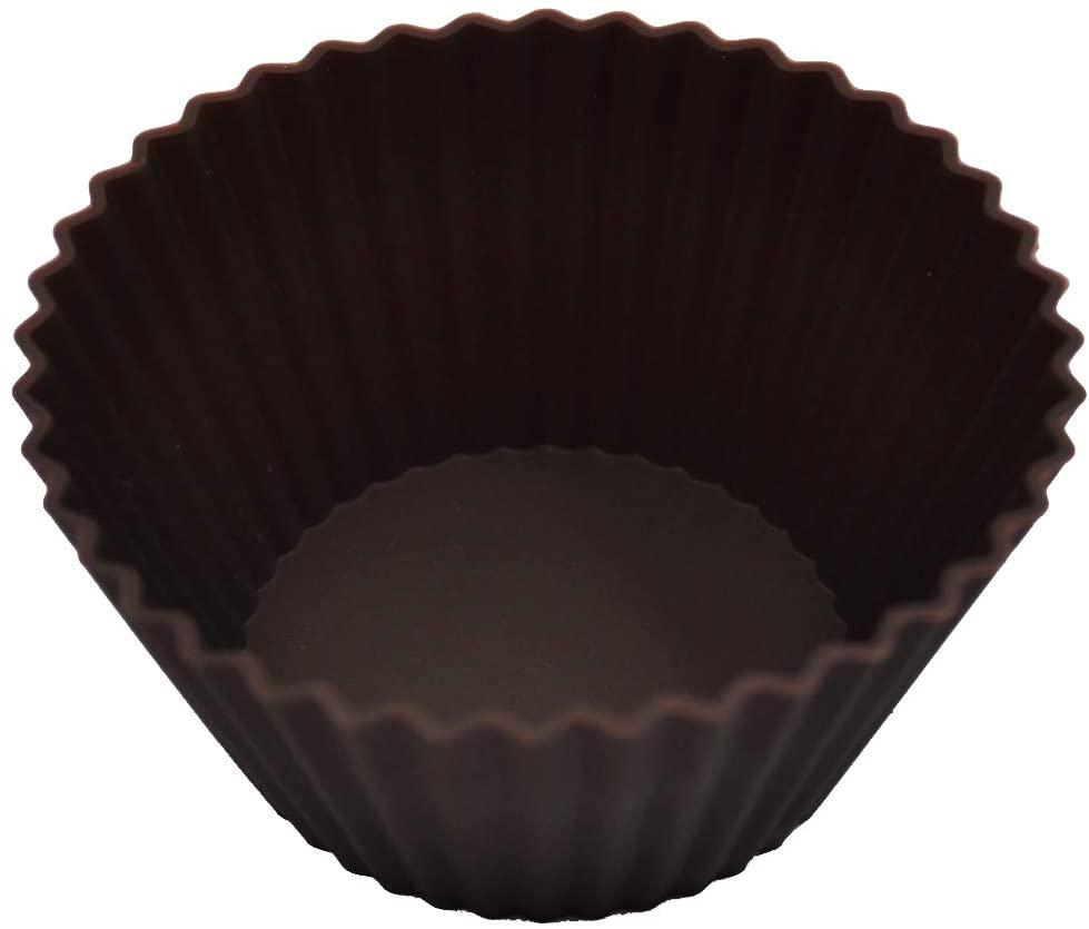 Kai House SELECT(カイハウスセレクト)型ばなれしやすいシリコーン製のマフィンカップ4個入り DL6354 ブラウンの商品画像3