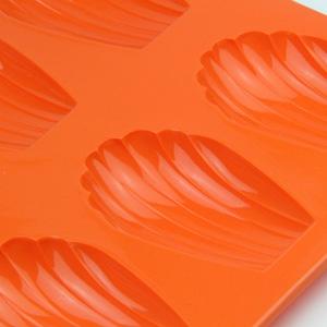 おかしの森(オカシノモリ)マドレーヌ型 シェル シリコン製 6P オレンジ SIL-53の商品画像2