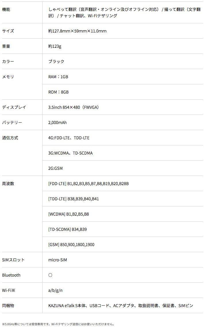 KAZUNA etalk 5の商品画像6