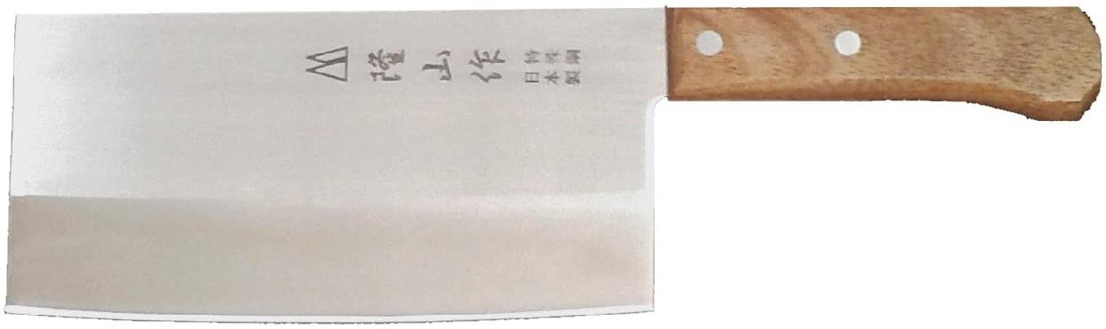 隆山作(リュウザンサク) 中華包丁 刃渡り17.5cmの商品画像