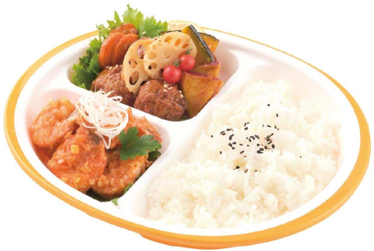 楽弁(ラクベン)フタ付ランチプレート(丸)オレンジの商品画像4
