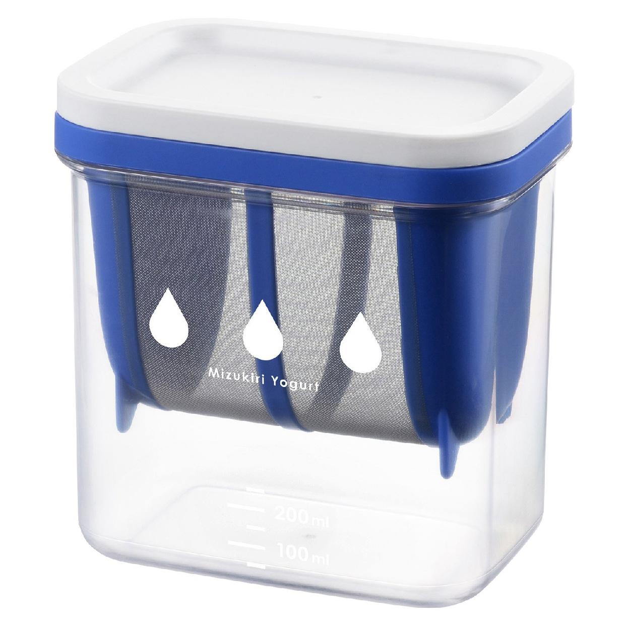 AKEBONO(アケボノ)水切りヨーグルトができる容器 ST-3000 ブルーの商品画像3