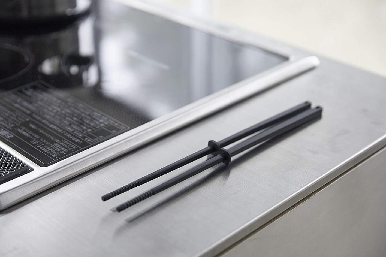 山崎実業(Yamazaki) シリコーン菜箸 タワー ブラック 4275の商品画像4