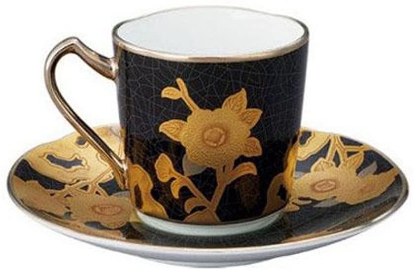 Noritake(ノリタケ) オマージュコレクション デミタス碗皿黒絵薔薇文 T2404/H-767の商品画像2