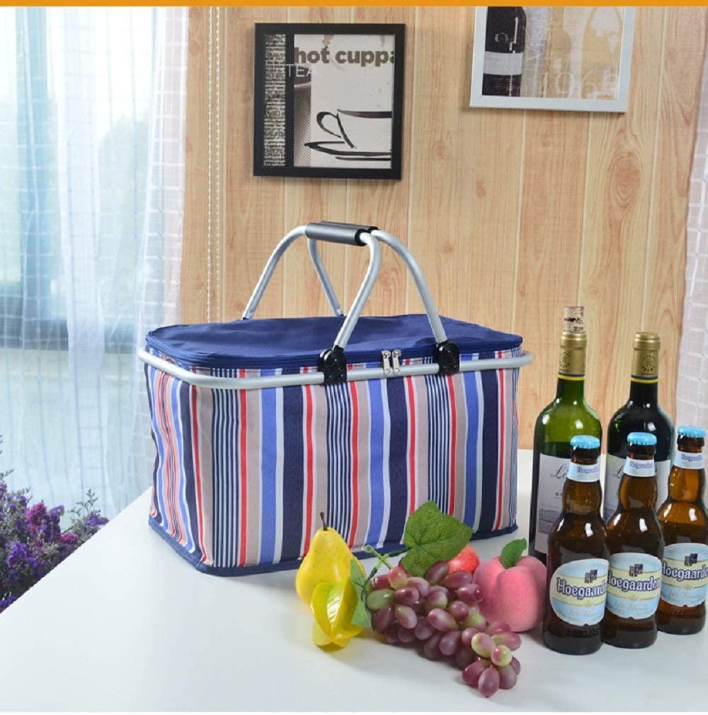 NATUCE(ナチュス)ピクニックかご 折りたたみフルーツバスケット ブルーの商品画像3