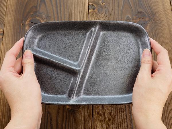 K'sキッチン(ケーズキッチン) 粉引 スタックランチプレート ブラック 22.7cmの商品画像6