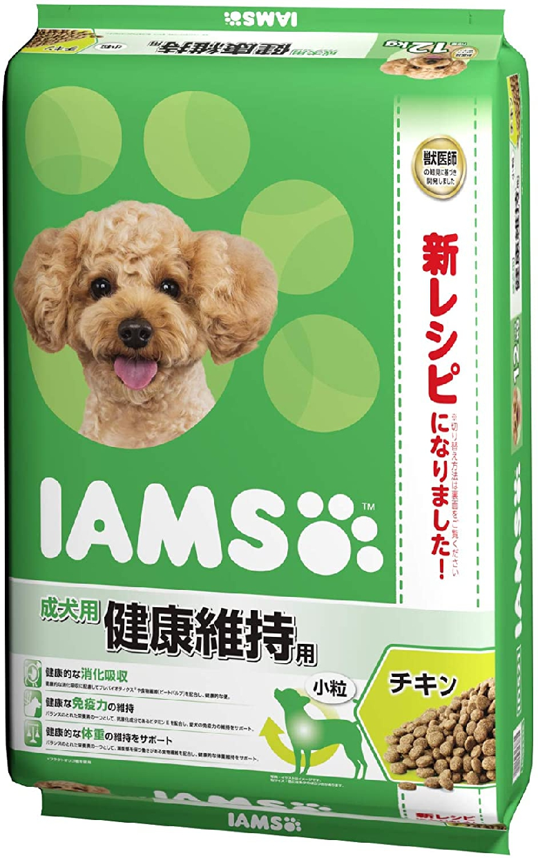 IAMS(アイムス) 成犬用 健康維持用 チキン小粒の商品画像