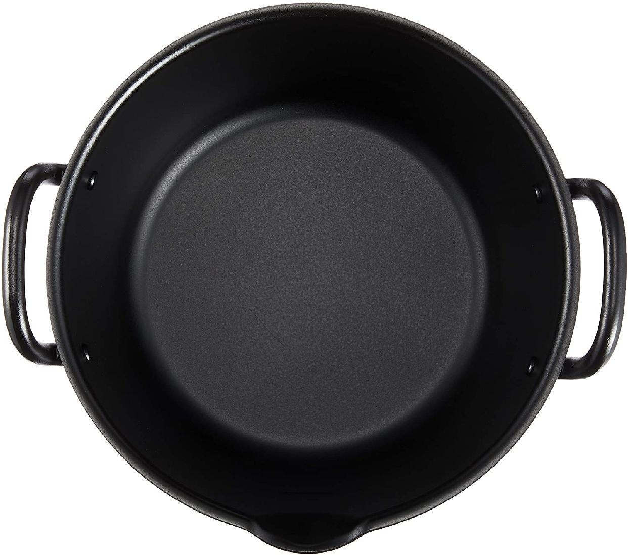 summit(サミット) IHたっぷり深型揚げ鍋20㎝(フタ付)ブラックの商品画像3
