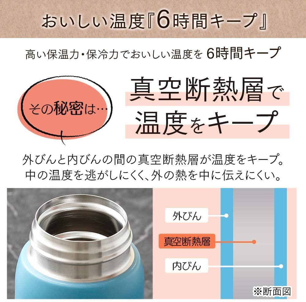 IRIS OHYAMA(アイリスオーヤマ) ステンレスケータイボトル スクリュー SB-S500 スモーキーピンクの商品画像3