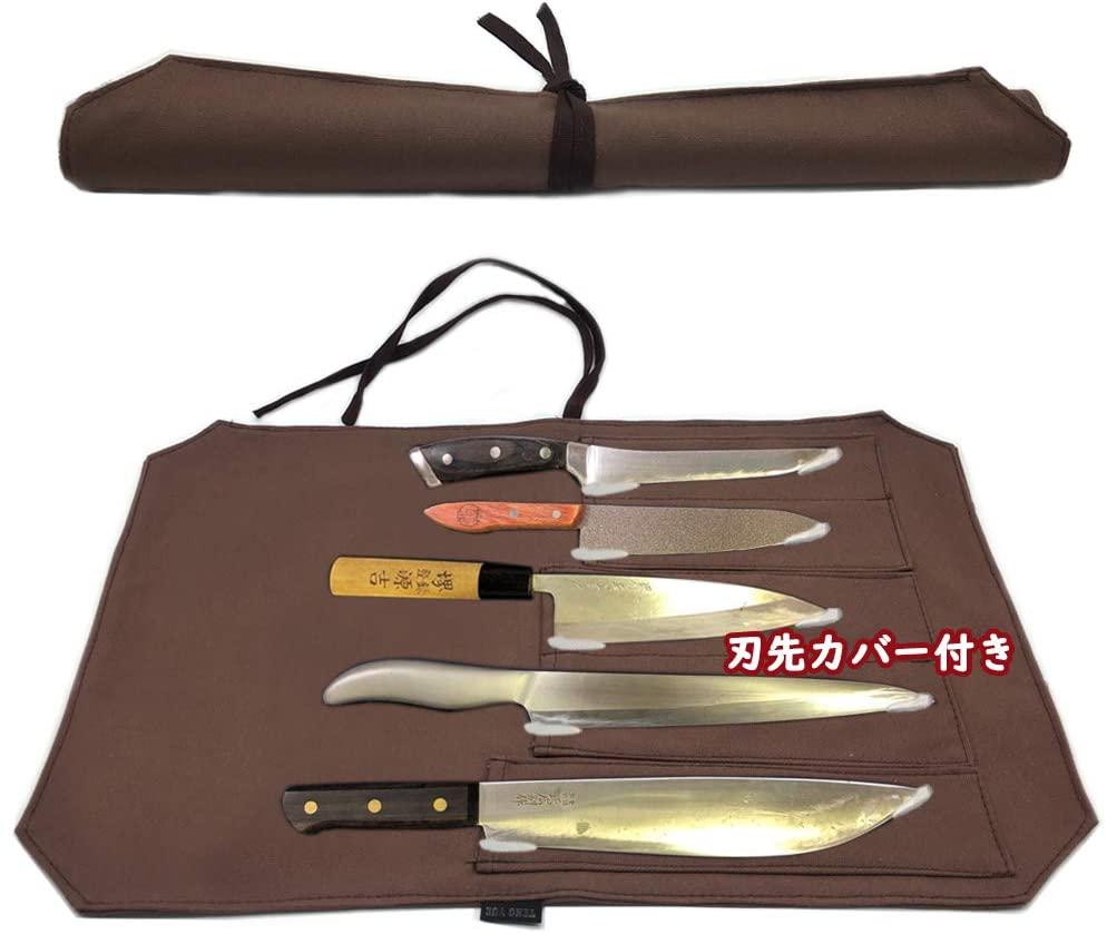 NGE(エヌジーイー) 包丁ケース 帆布製 ブラウンの商品画像