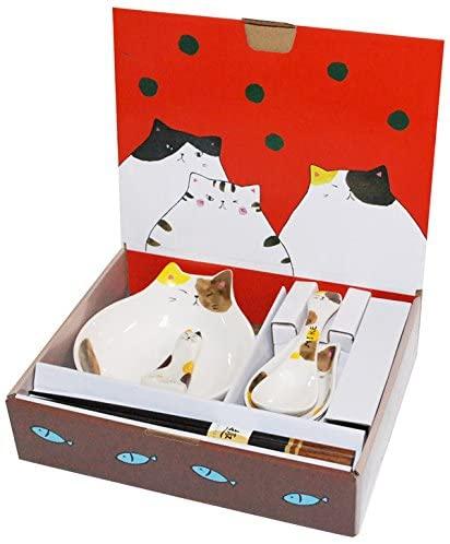 セラミック藍(セラミックアイ) わんぱく猫 とんすいセット MIKEの商品画像2